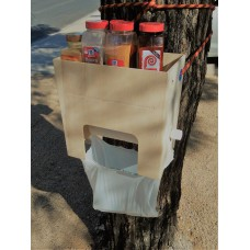 Tree Huggers Paper Towel, Spice Rack, Trash Station