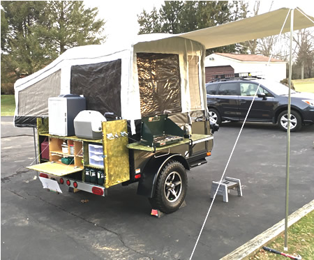 Integrating the Classic Chuck Box camp kitchen into a trailer.